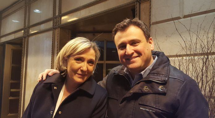 Denis Franceskin et Marine Le Pen (Front National)