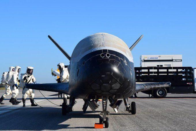 Une navette spatiale secrète a atterri à Canaveral X-37B