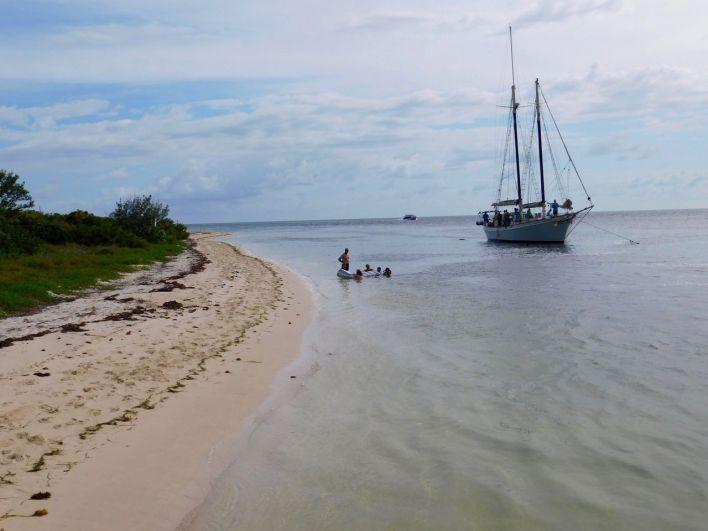 Voilier sur l'île de Boca Grande, au large de Key West, en Floride.