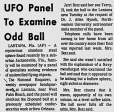 """La sphère """"venue de l'espace"""" de la famille Betz à Jacksonville"""