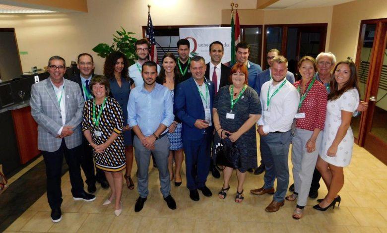 Les chefs d'entreprises de la délégation commerciale québécoise au cocktail de la mission commerciale Québec-Floride 2017