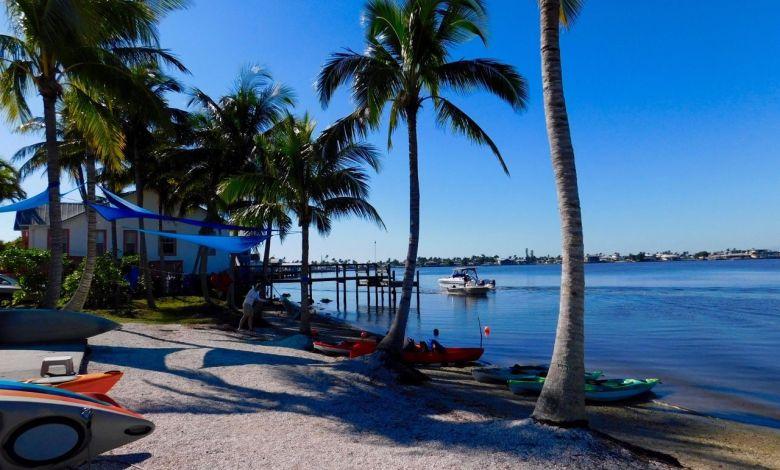 Kayak à Matlacha, village de pêcheurs en Floride