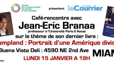 Café rencontre avec Jean-Eric Branaa à Miami