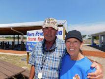 M. et Mme Power à la Marina de Moore Haven, sur le lac Okeechobee (Floride)
