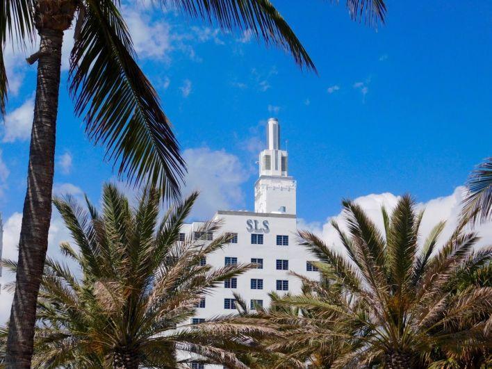 SLS Hotel, hôtel art déco sur Ocean Drive à South Beach / Miami Beach