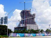Hotel en forme de guitare du Seminole Hard Rock Casino de Hollywood en Floride