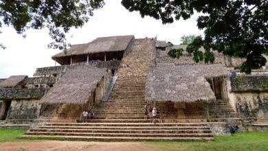 Pyramide maya de Ek BBalam, dans le Yucatan (Mexique)