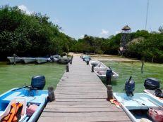 Le port d'accès à Sian Ka'an, à Muyil (au sud de Tulum)