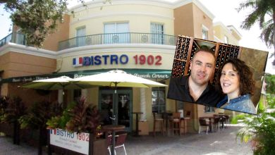 Bistro 1902, restaurant français sur Hollywood blvd, à Hollywood en Floride