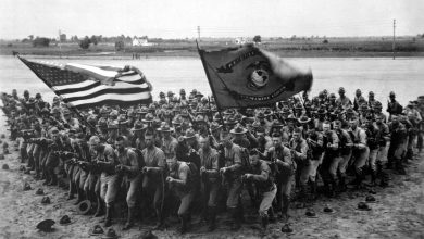 Un entraînement de Marines en Floride en 1918