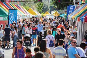 La foire de rue de la Miami Book Fair