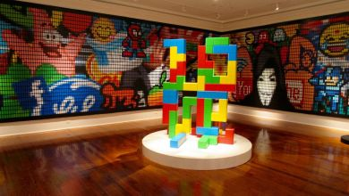 Exposition d'art contemporain au Cornell Museum de Delray Beach ici : œuvres de Speedy Graphito.
