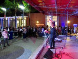 Alain Ouelhadj, président de la FACC Miami, lors de la soirée d'ouverture des French Weeks