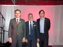 Le consul de France, Clément Leclerc, Alain Ouelhadj, et un représentant de la Ville de Miami