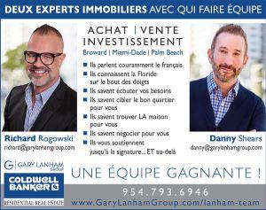 Richard Rogowski, Danny Shears agents immobiliers