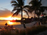 Coucher de soleil au Club Med Sandpiper à Port St Lucie en Floride.