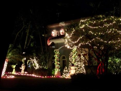 Décorations de Noël dans le quartier de Rio Vista, à Fort Lauderdale en Floride