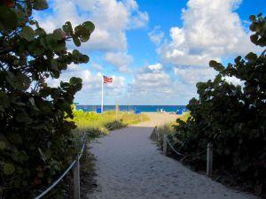Plage de Riviera Beach en Floride
