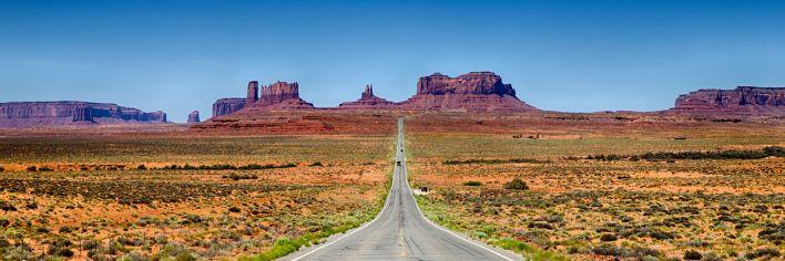"""Le fameux """"Forrest Gump Point"""" de Monument Valley, dans l'Utah (là où Forrest décide d'arrêter de courir)."""