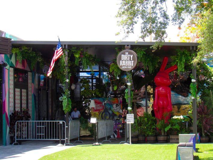 Bar The Dirty Rabbit dans le quartier de Wynwood à Miami