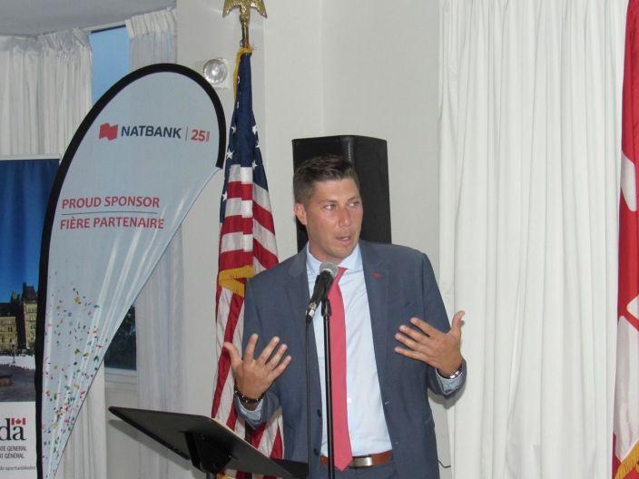 Michael Côté (président de Natbank) à la Fête nationale du Canada en Floride organisé à Fort Lauderdale par la Chambre de Commerce Canada-Floride