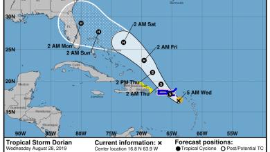 Photo of L'ouragan «Dorian» pourrait atteindre la Floride ce samedi