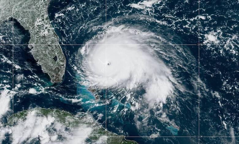 L'Ouragan Dorian dimanche midi au large de la Floride
