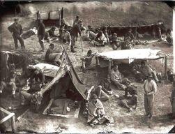 Photo originale du camp d'Andersonville.
