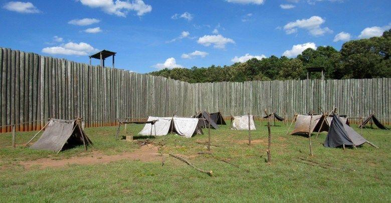La prison confédérée d'Andersonville en Géorgie