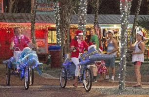 Key West holiday Fest bikers