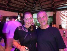 Michèle Fontanière (Pop Up Gallery) avec Serge Massat, expert comptable et fondateur de MCG.