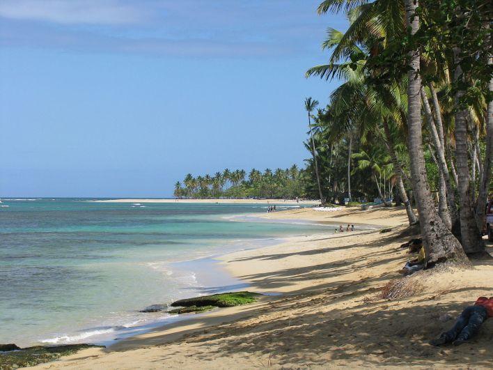 Une plage à Las Terrenas en République Dominicaine.