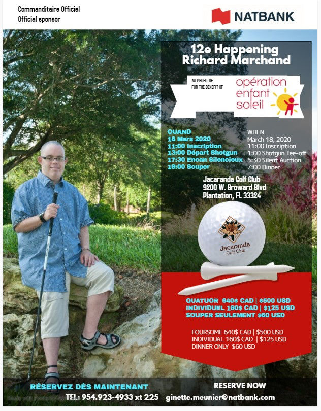 12e Happening Richard Marchand / tournoi de golf Netbank