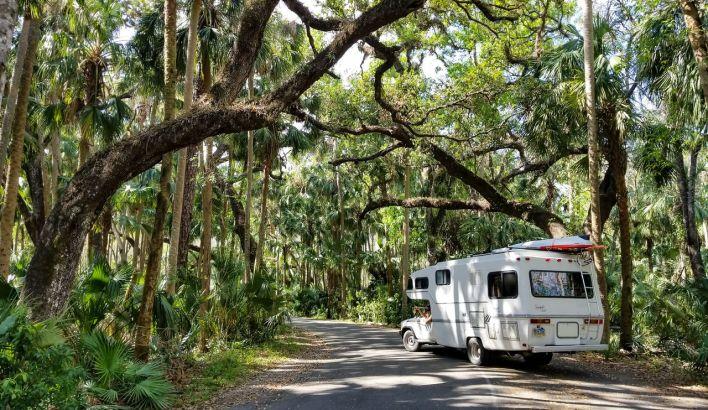 Camping Car au Highlands Hammock State Park
