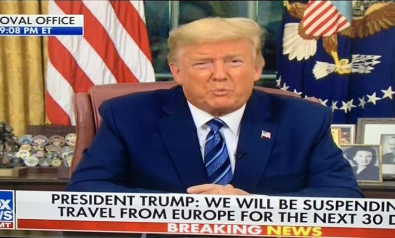 Trump interdit tout voyage entre les USA et l'Europe pendant trente jours pour freiner le coronavirus !