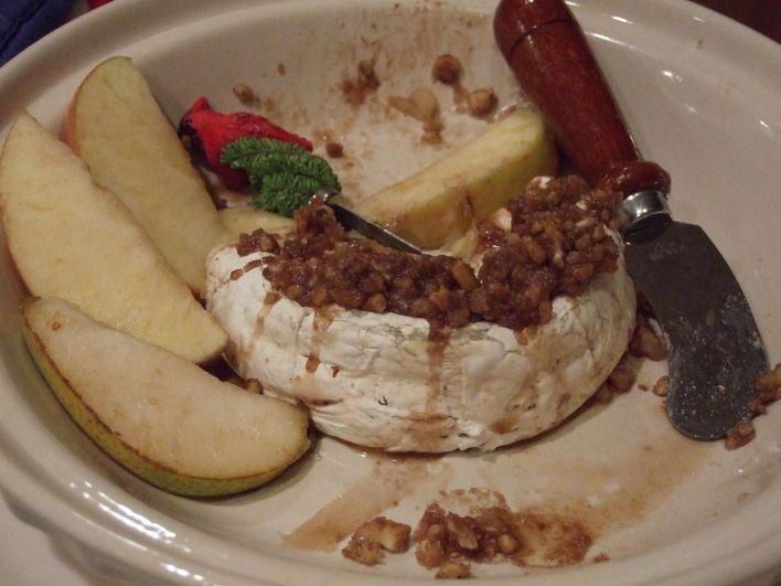 Brie fondant aux pacanes