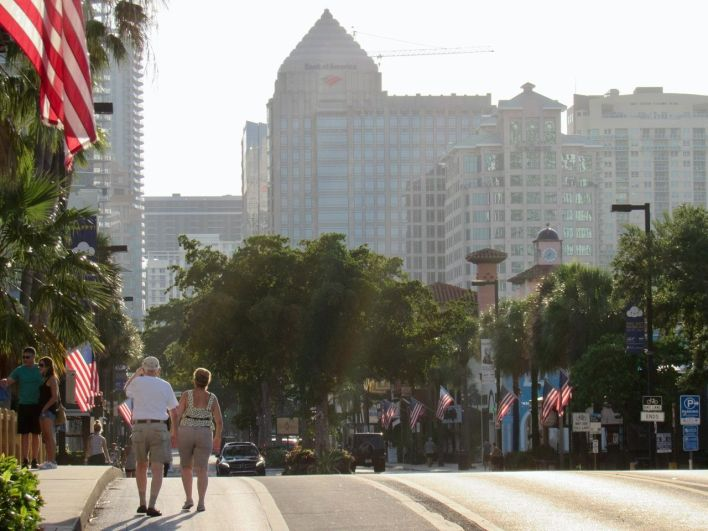 Las Olas Boulevard à Fort Lauderdale en FlorideLas Olas Boulevard à Fort Lauderdale en Floride
