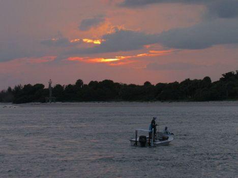 Coucher de soleil sur Fort Pierce en Floride