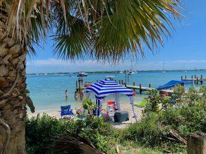 Plage de South Causeway Beach à Fort Pierce en Floride