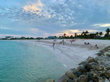 Coucher de soleil sur Jetty Park à Fort Pierce en Floride