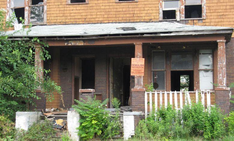 Une maison en ruine à Détroit