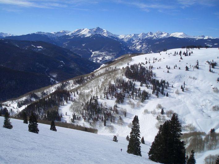 Vail, station de ski du Colorado.