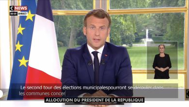 Le discours télévisé d'Emmanuel Macron