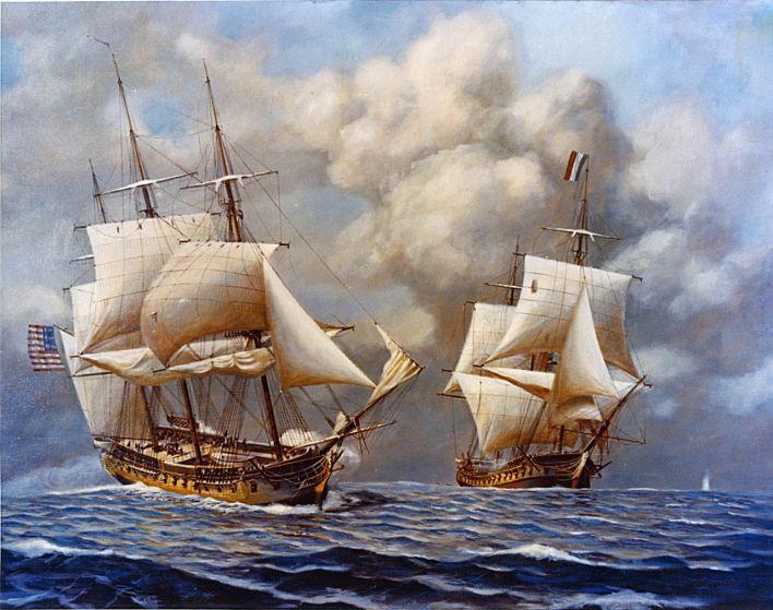 Combat de l'USS Constellation et de l'Insurgente, le 9 février 1799 durant la quasi-guerre.
