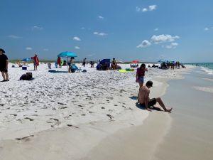 La plage de Navette Beach en Floride