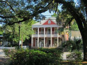 Le centre ancien de Pensacola en Floride (Seville Square)