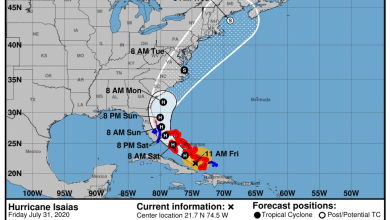 Photo of La Floride est en état d'alerte pour Isaias, un ouragan de catégorie 1 qui approche : toute la côte Atlantique américaine est concernée