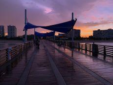Plage de Pompano Beach en Floride