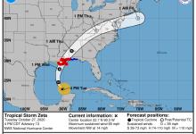 Photo de Menace d'ouragan «Zeta»  entre la Louisiane et la Floride : le record de tempêtes est en passe d'être battu aux Etats-Unis