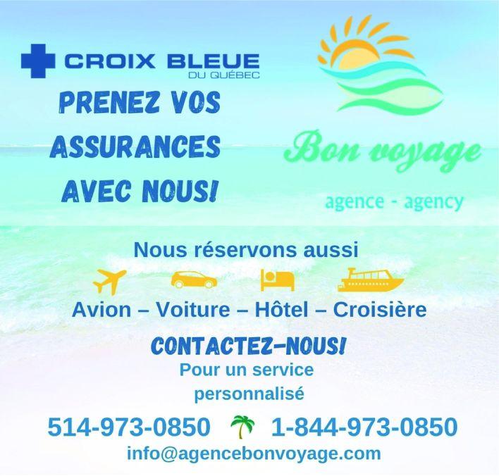 Agence Bon Voyage / Croix Bleue du Québec, assurances Etats-Unis